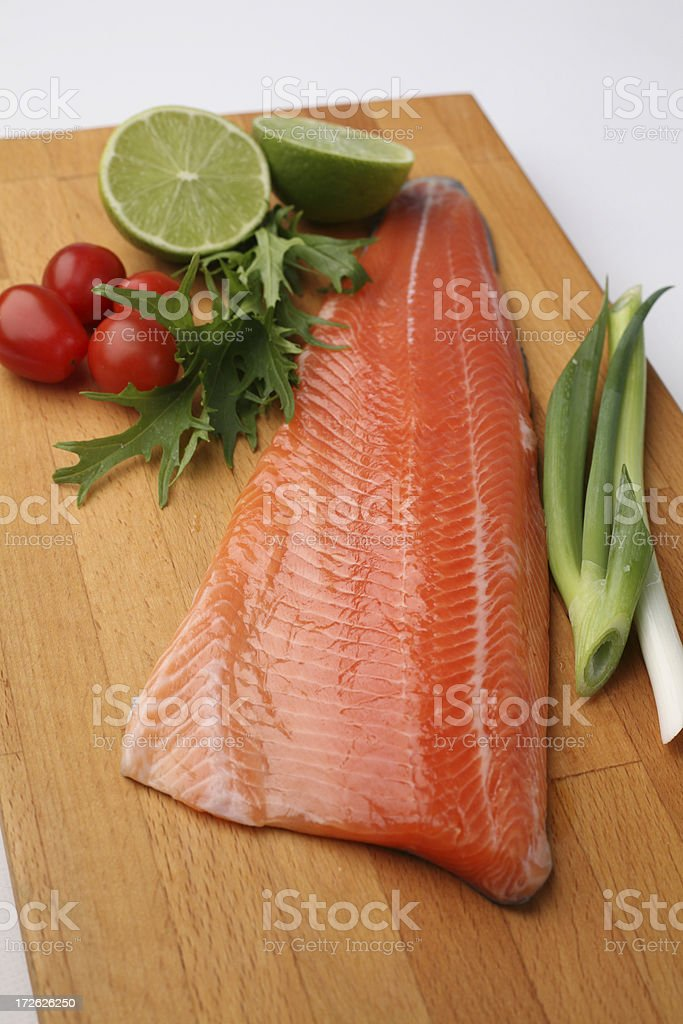 Fillet of trout royalty-free stock photo