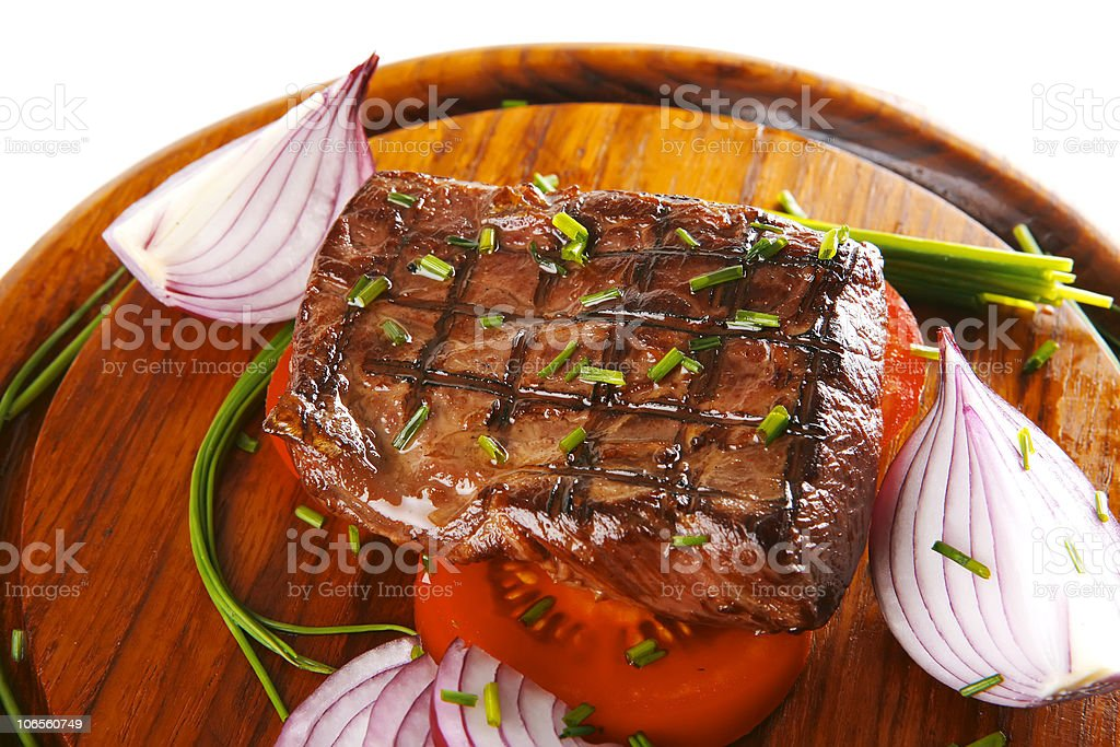 fillet served on wood royalty-free stock photo