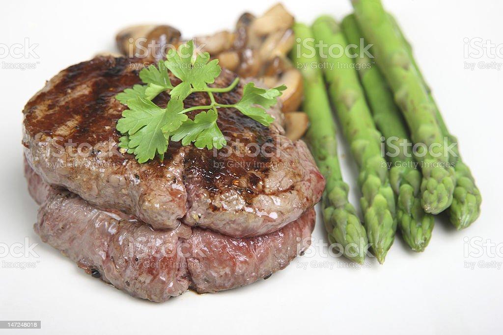 Fillet Steak Dinner royalty-free stock photo