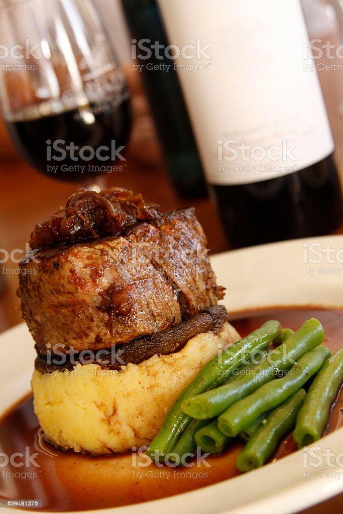 Fillet Steak Meal stock photo