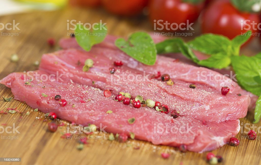 Fillet Steaks of Veal  , raw royalty-free stock photo