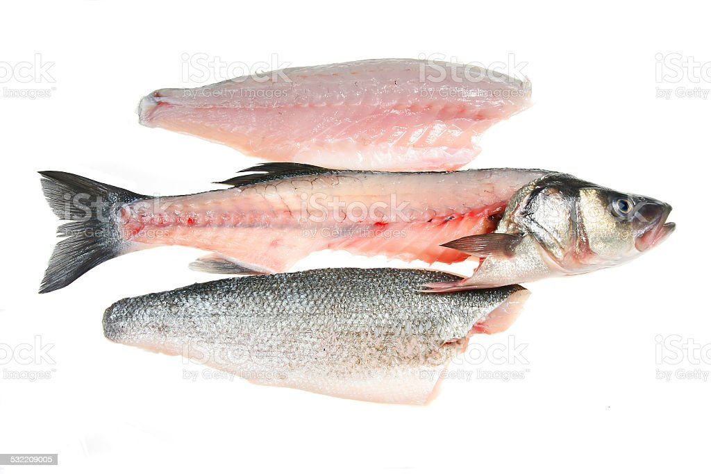 Filleted fish and fillets stock photo