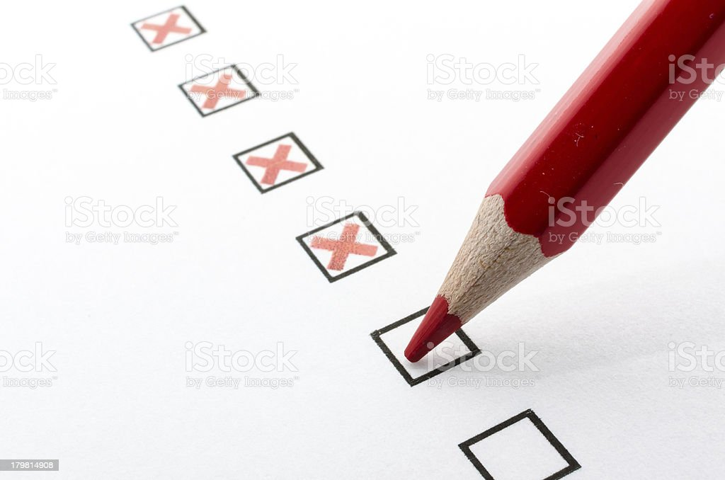 Filling checkboxes royalty-free stock photo