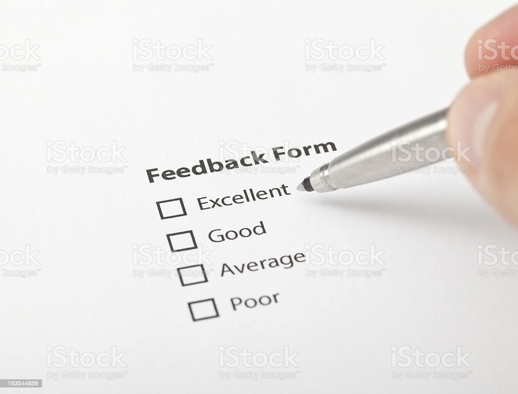filling empty feedback form royalty-free stock photo