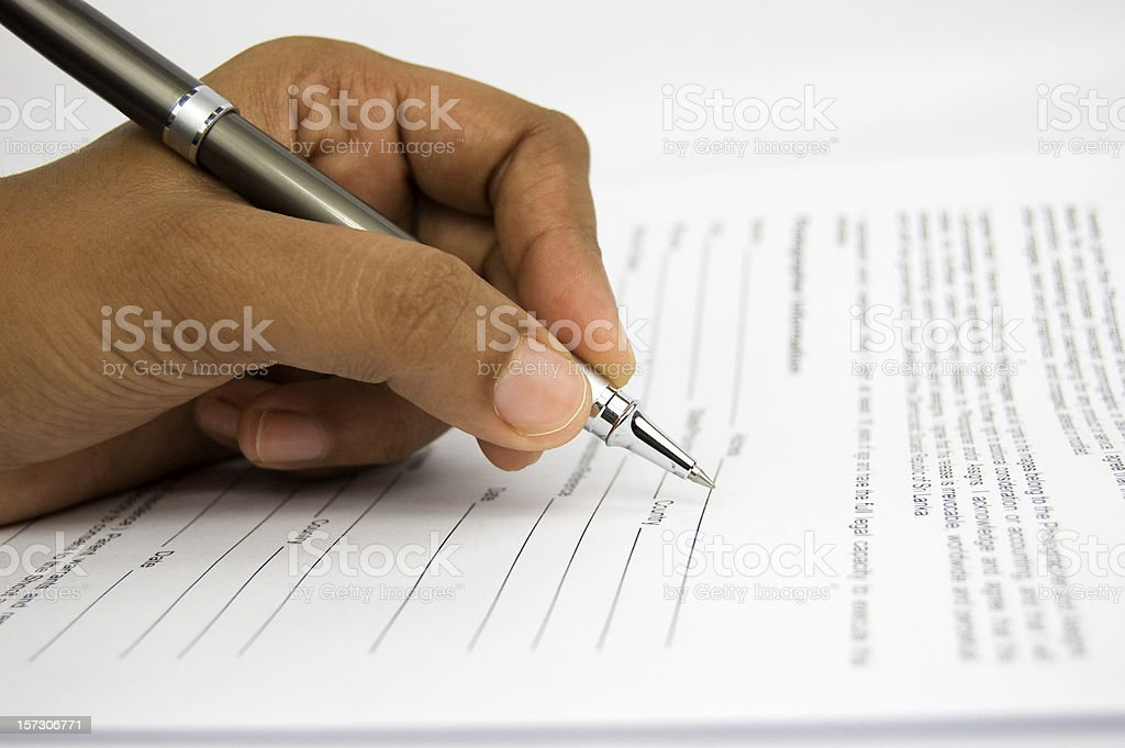 Filling form royalty-free stock photo