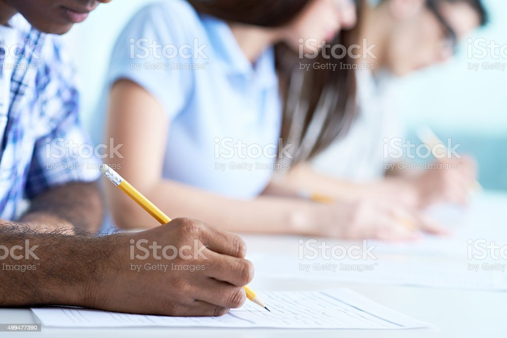 Filling form stock photo