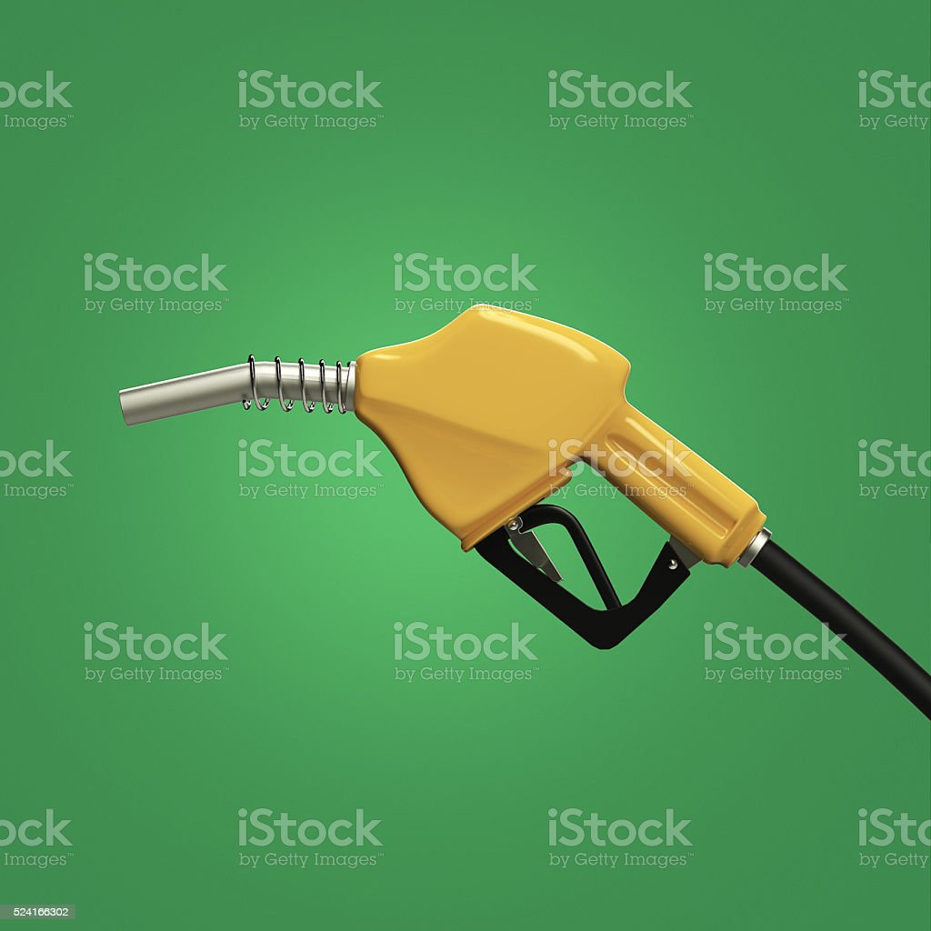 filling gun. gas refuelling nozzle, gasoline pump  render isolated stock photo