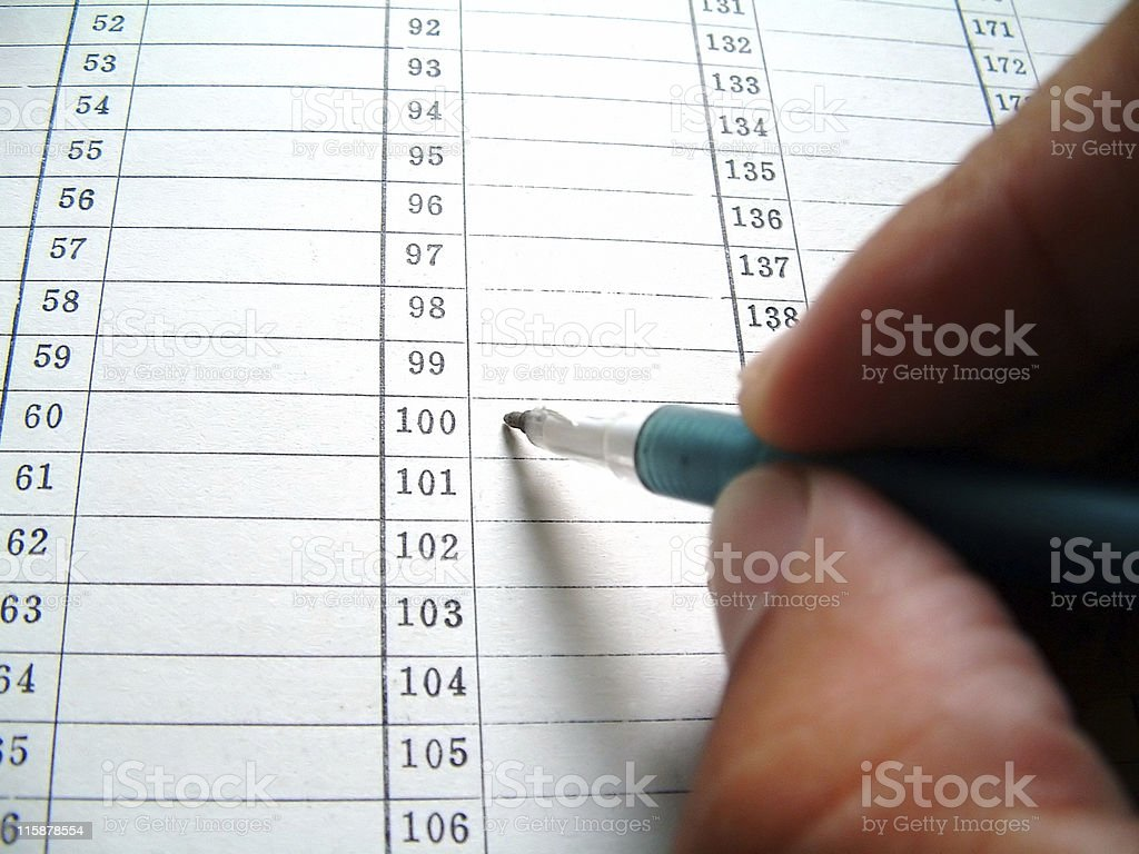 Filling Item Form royalty-free stock photo
