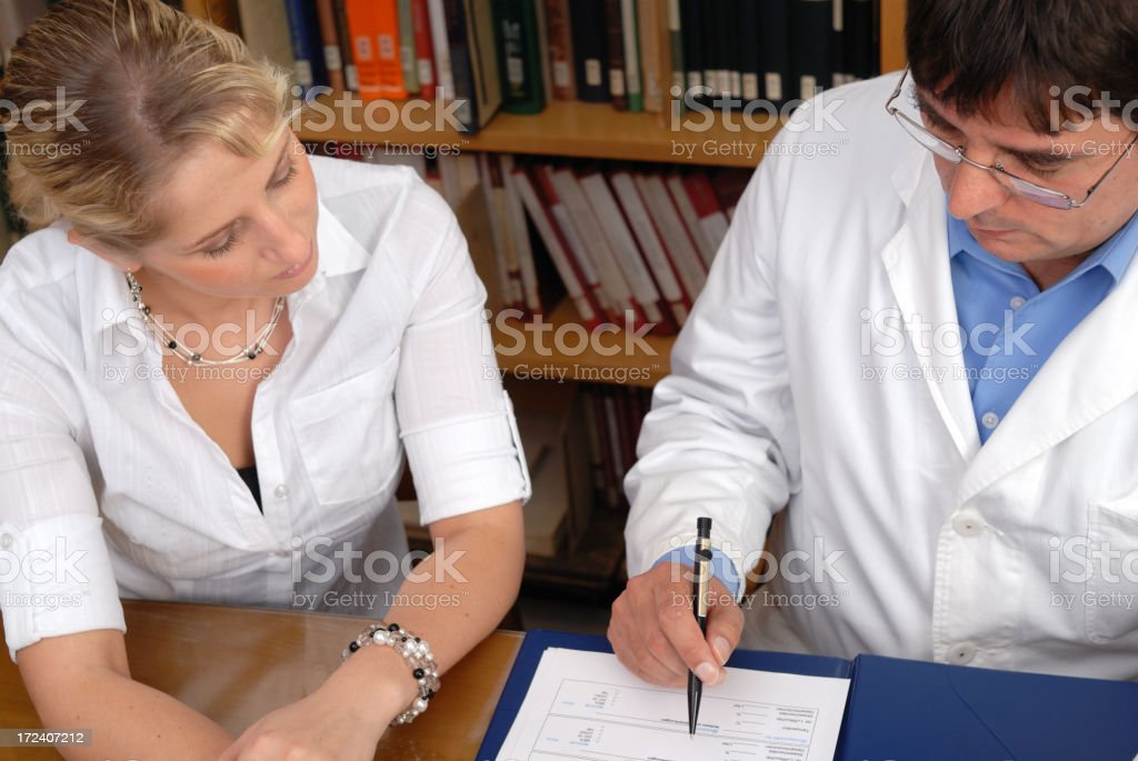 Filling out a form royalty-free stock photo