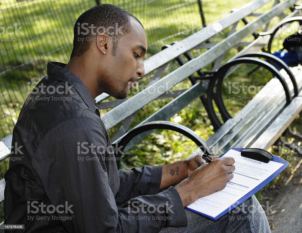 Filling Out Job Application royalty-free stock photo
