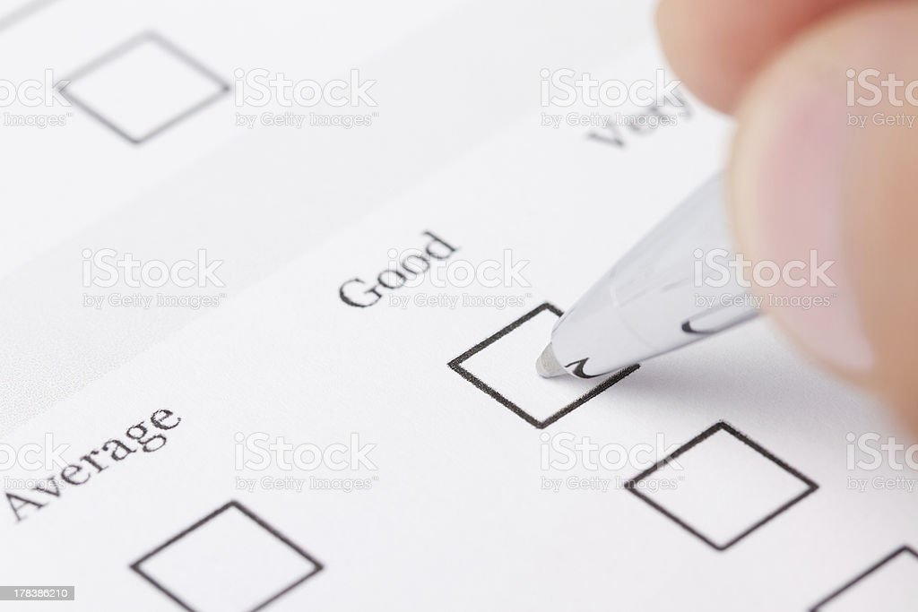 Filling out the questionnaire royalty-free stock photo