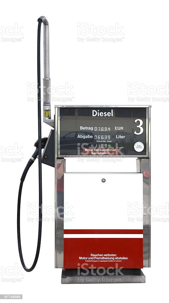 filling pump in white back stock photo