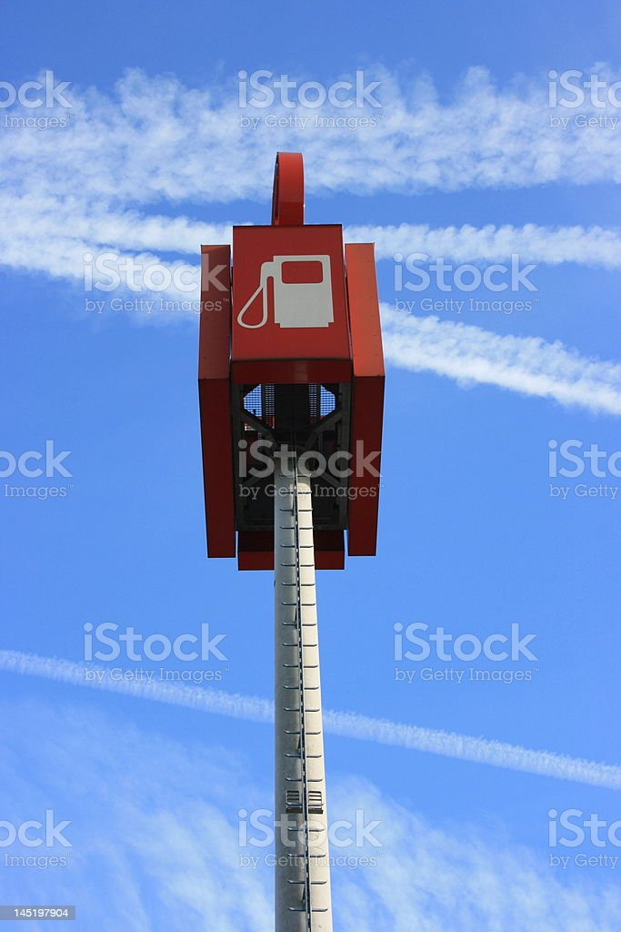 filling station sign stock photo