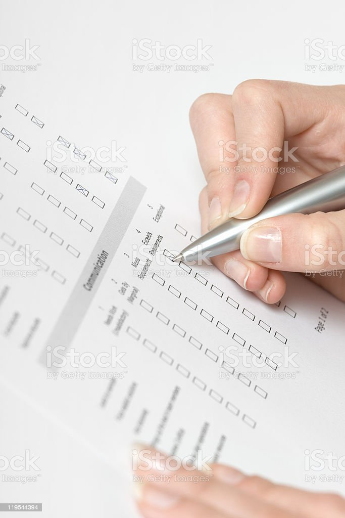 Filling the form royalty-free stock photo