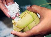 Filling the ketupat eid