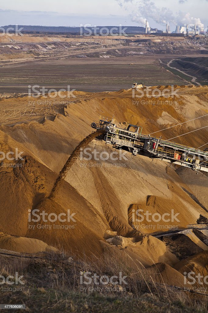 filling the open mine stock photo