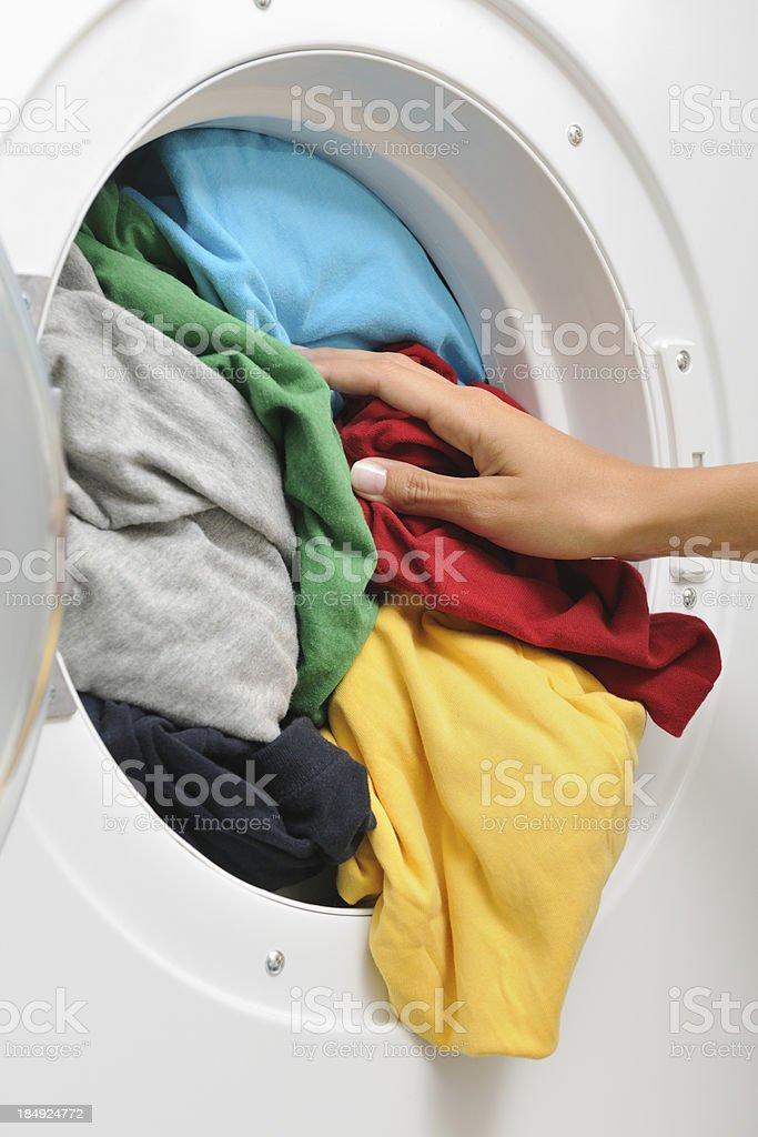 Filling the Washing Machine (XXXL) stock photo