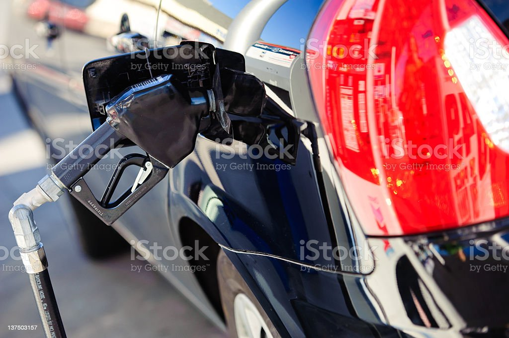 Filling up Gas Tank stock photo