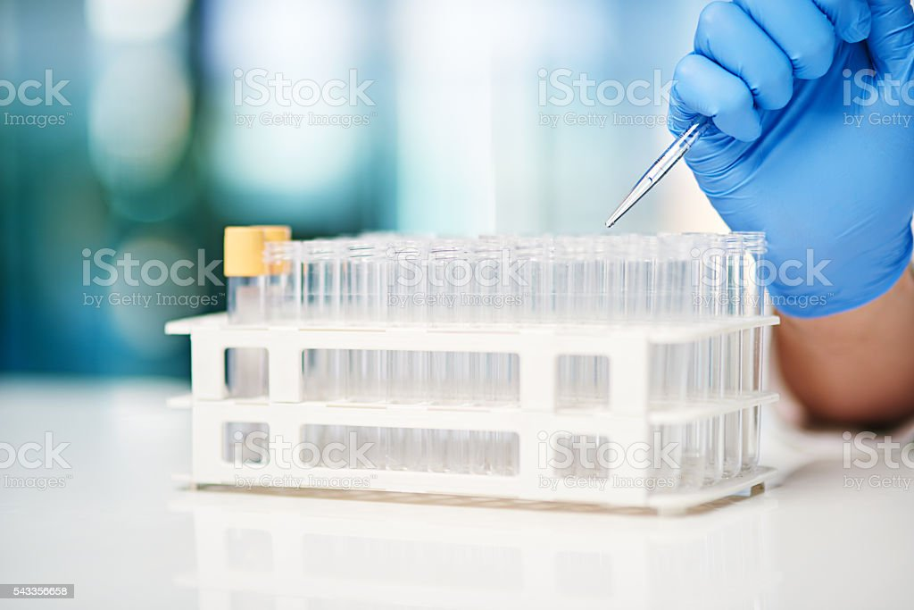 Filling up with a good dose... stock photo