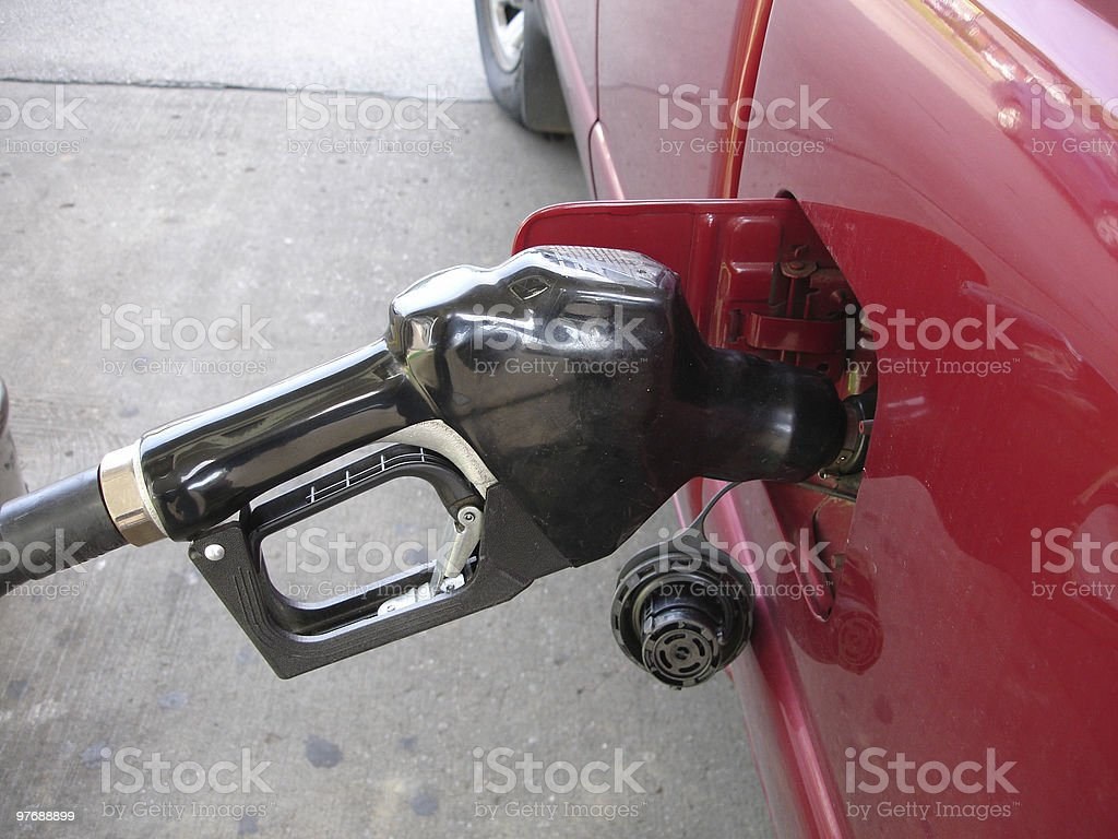 Filling up with Gas royalty-free stock photo