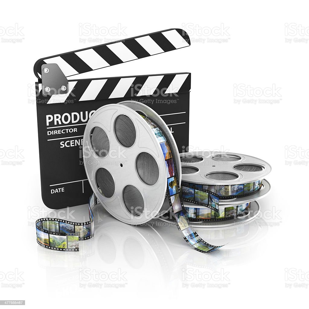 Film and Clapper board - video icon stock photo