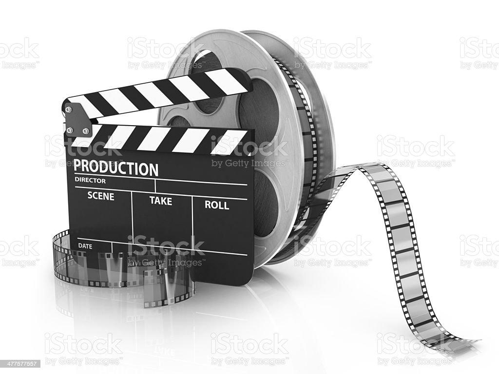 Film and Clapper board - video icon stock photo