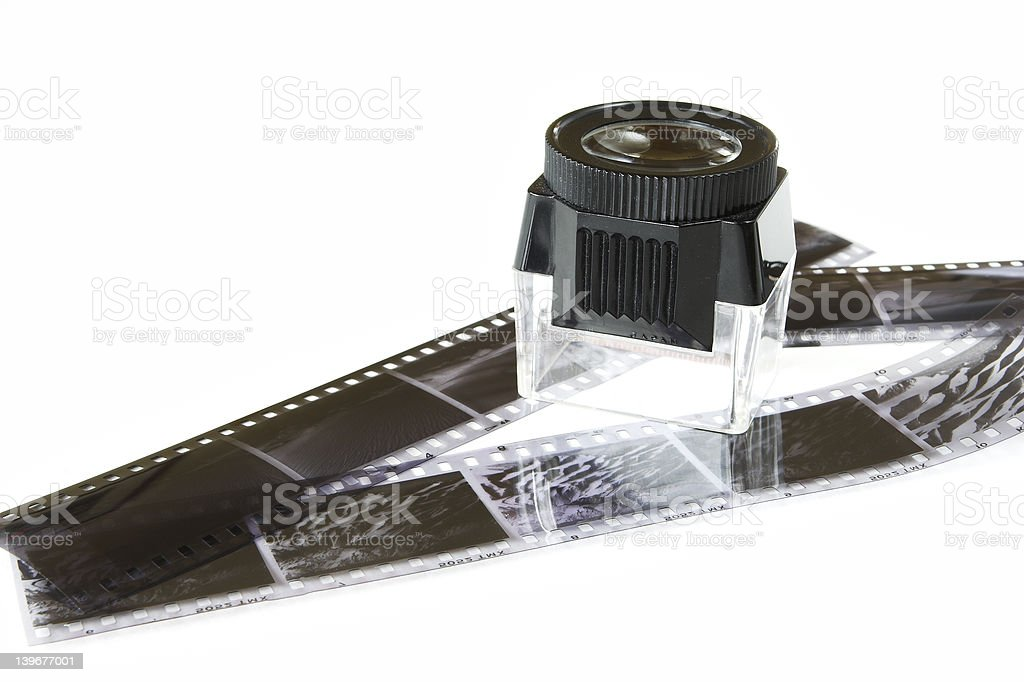 Film and Loupe royalty-free stock photo