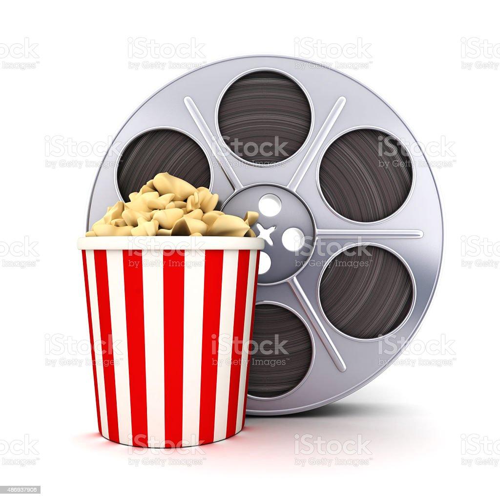 Film and popcorn stock photo