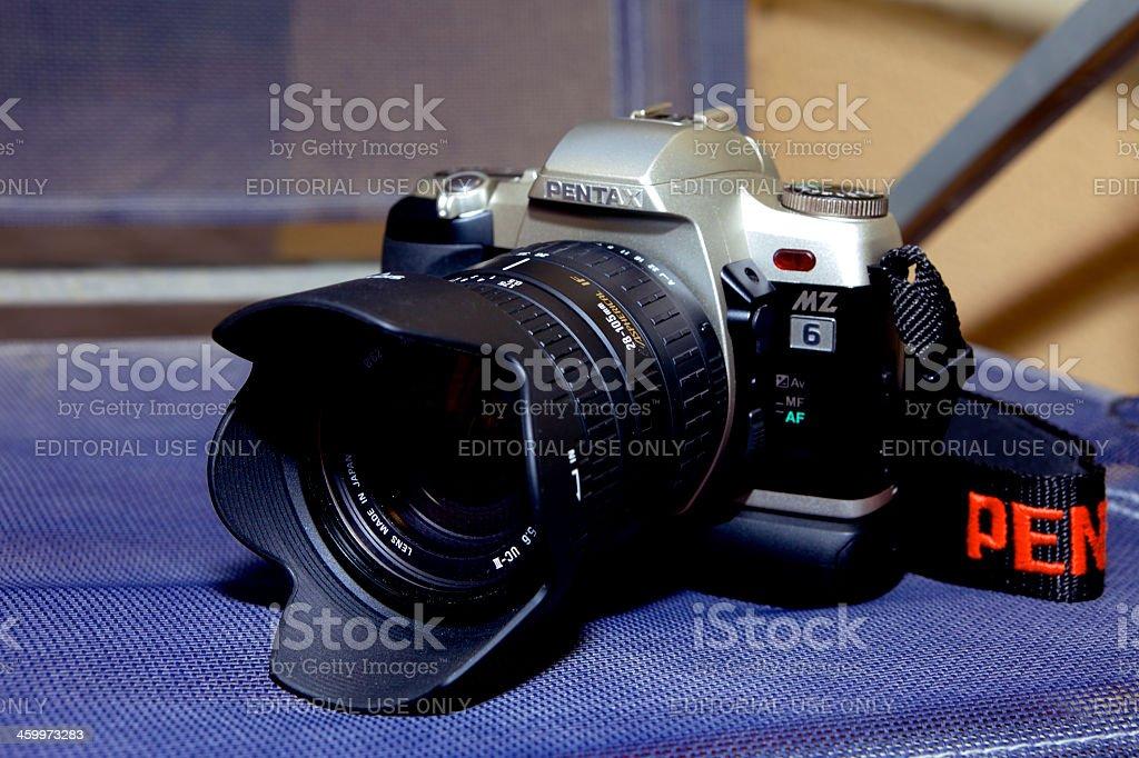 Film Camera - Pentax MZ 6 SLR stock photo