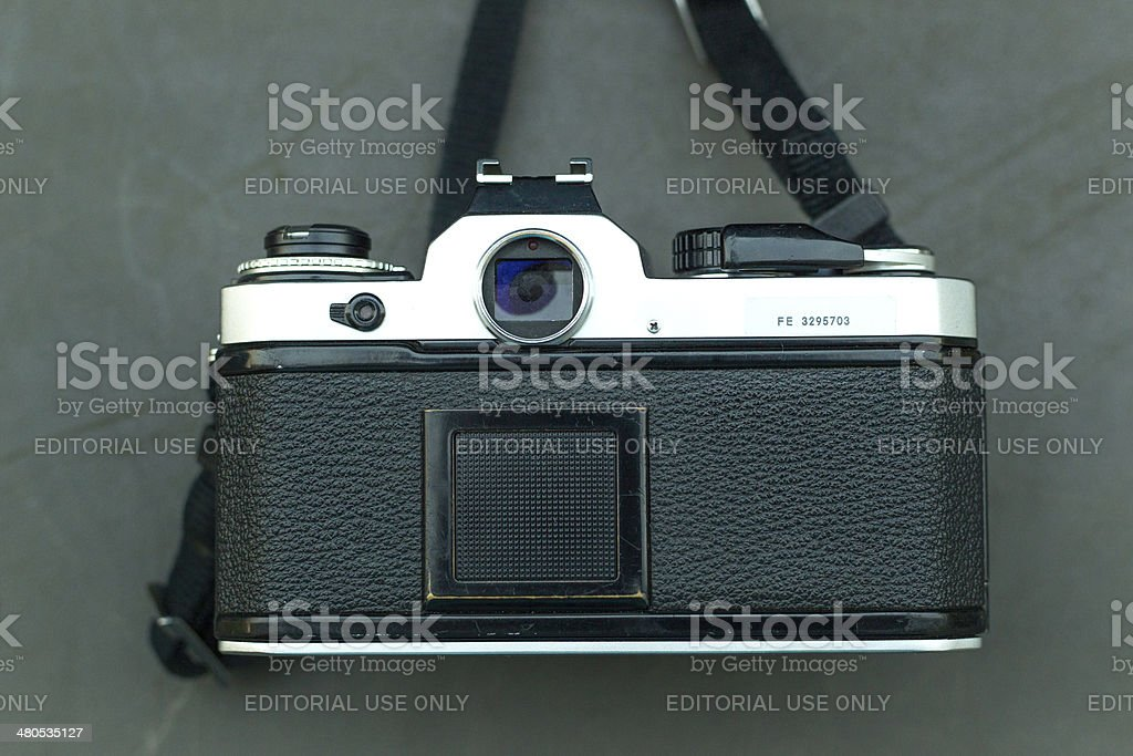 Film camera stock photo