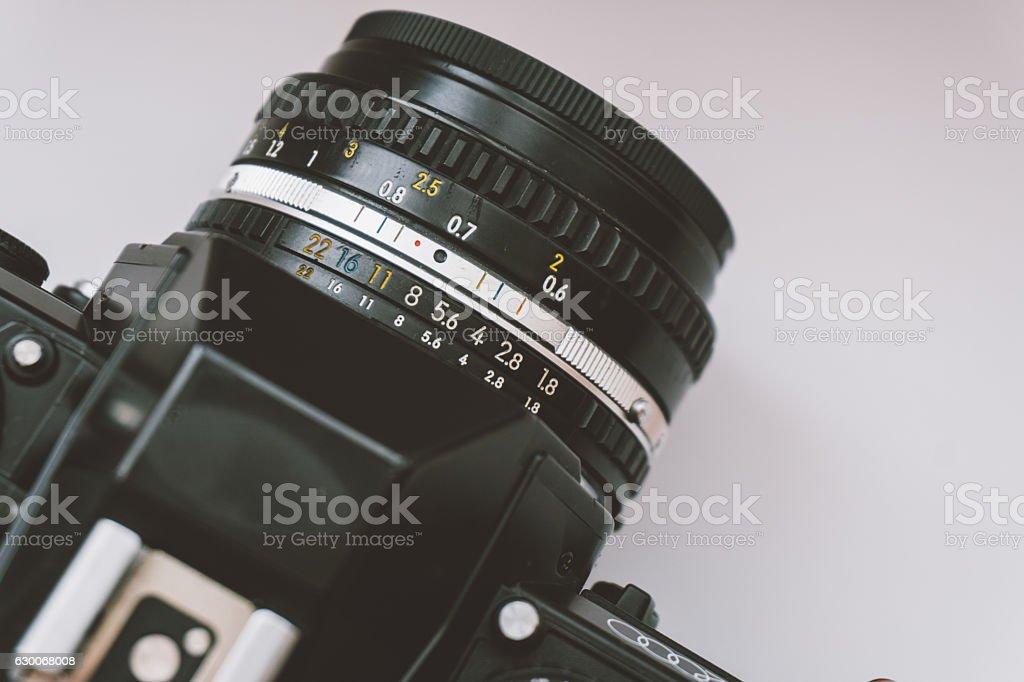 film camera with film stock photo