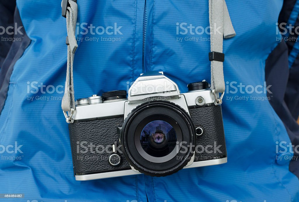 Film cameras that had been popular in the past stock photo
