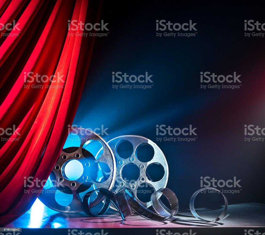 film coil, cinema, film industry stock photo