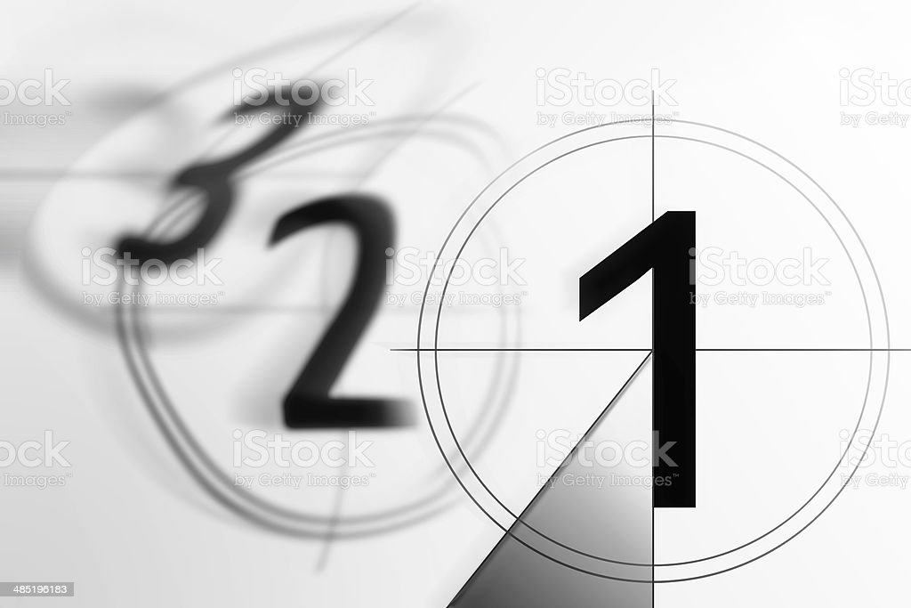 film countdown 3 2 1 stock photo