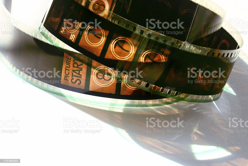 film countdown stock photo