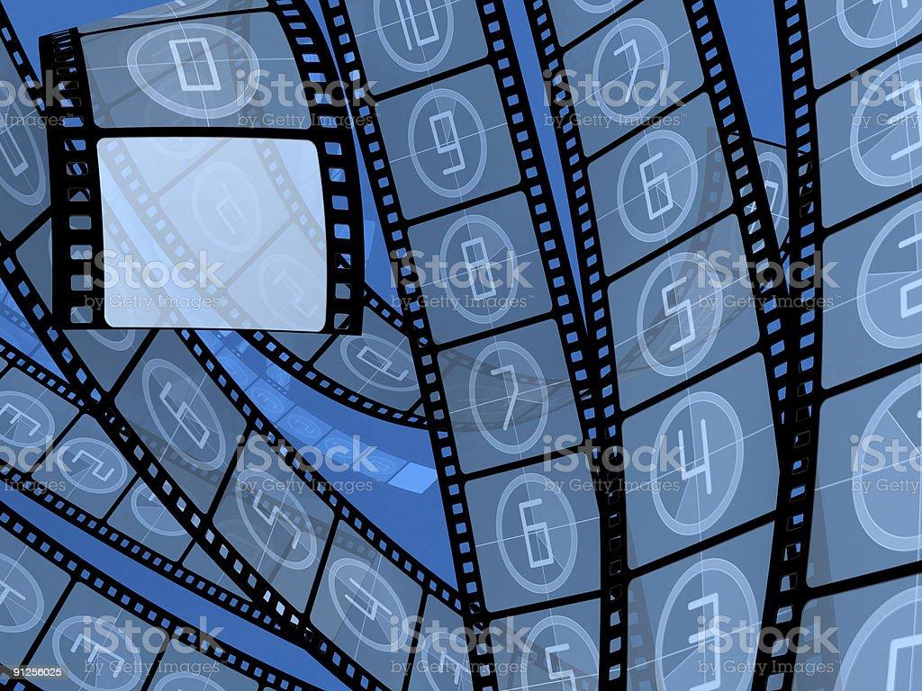 Film countdown royalty-free stock photo