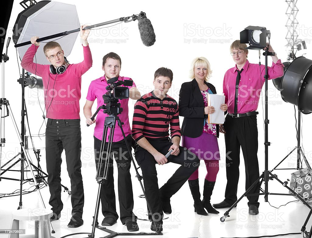 Film Crew stock photo
