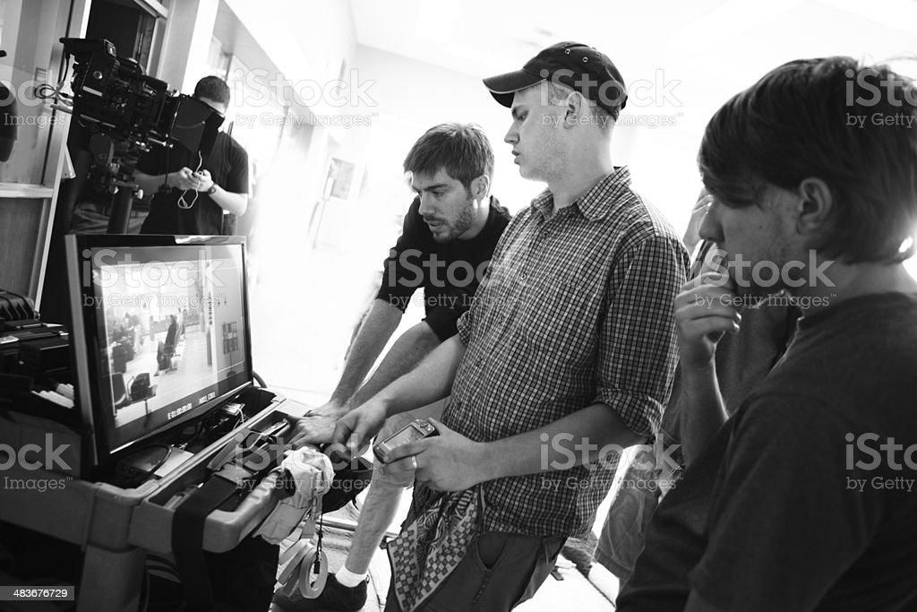 Film Crew Watch Monitor stock photo