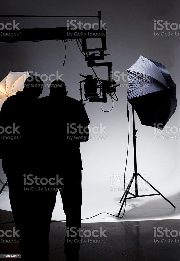 Film Crew Working on Set royalty-free stock photo
