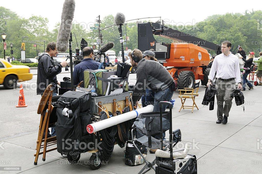 Film Crew,NYC royalty-free stock photo