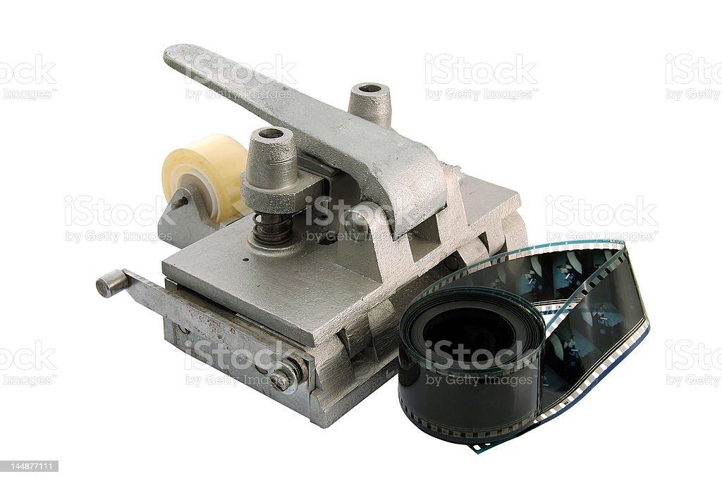 film cutting tool stock photo
