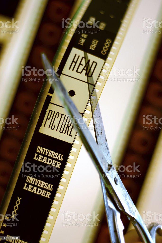 Film editing stock photo