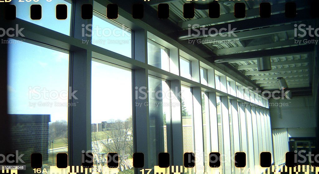 Film Exposed Over Edges of Negatives royalty-free stock photo