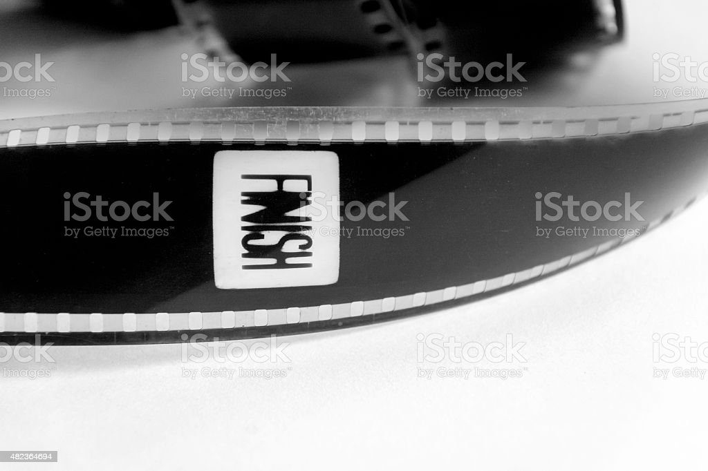 Film finish in black and white stock photo
