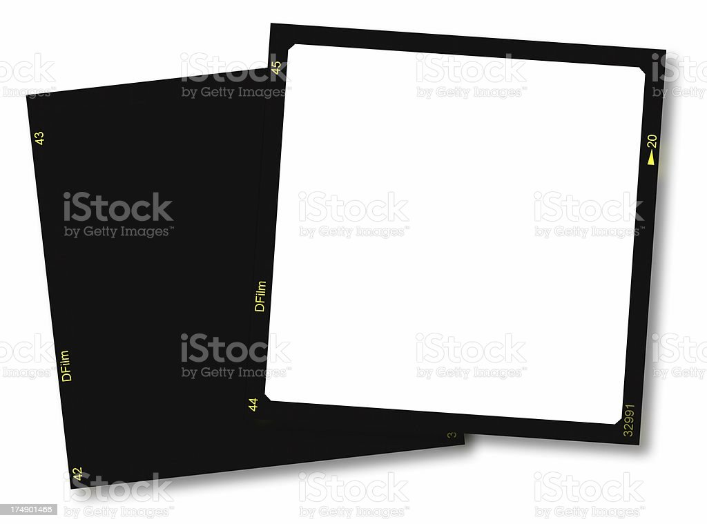 Film frames stock photo