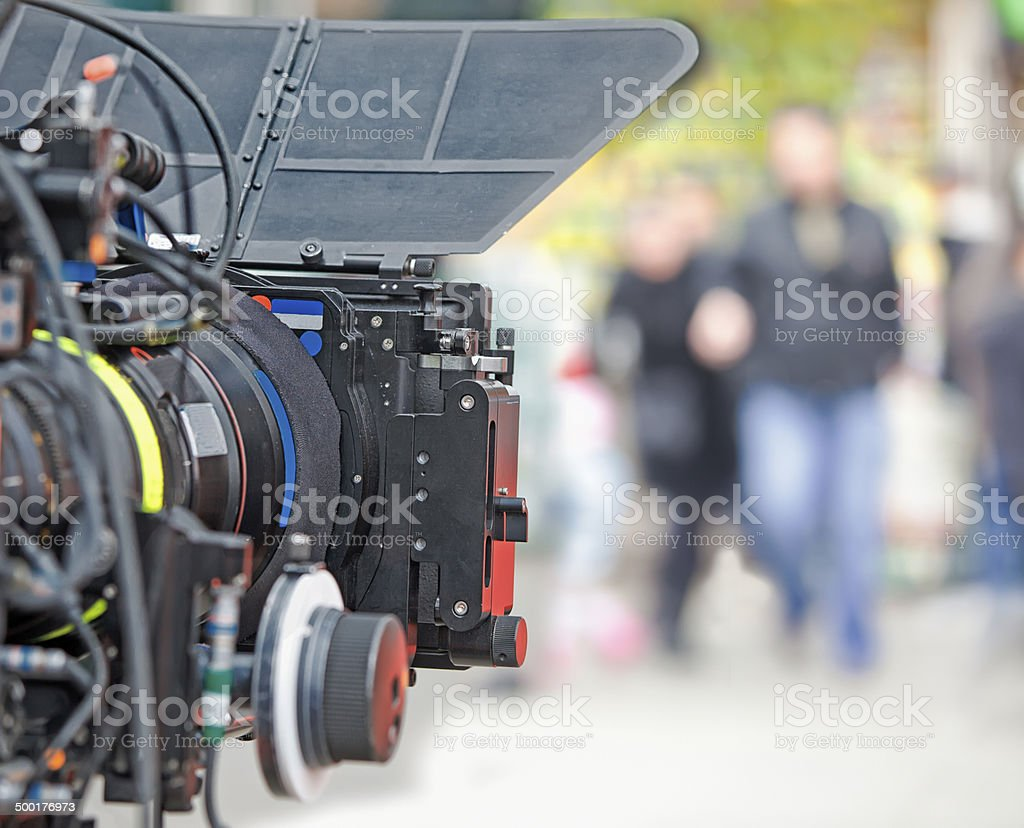Film Industry, Movie Camera and filming stock photo