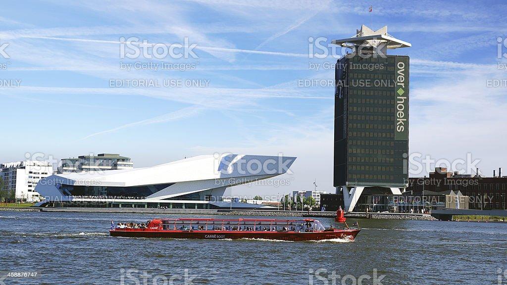 EYE Film Institute and Overhoeks Tower. royalty-free stock photo