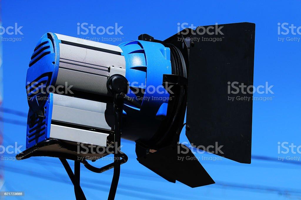 Film light shooting stock photo
