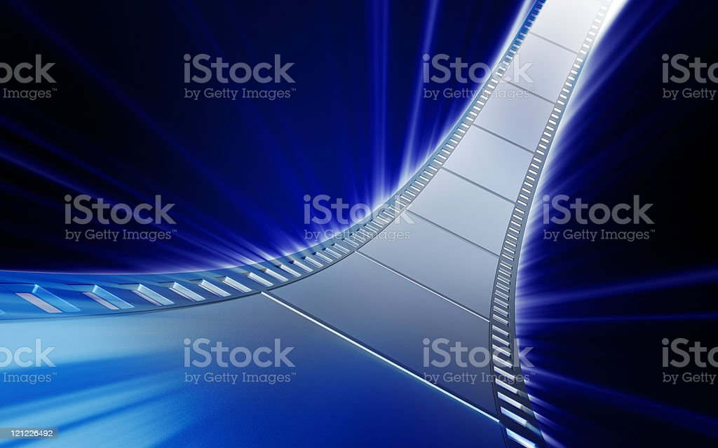 Film like a silver road stock photo