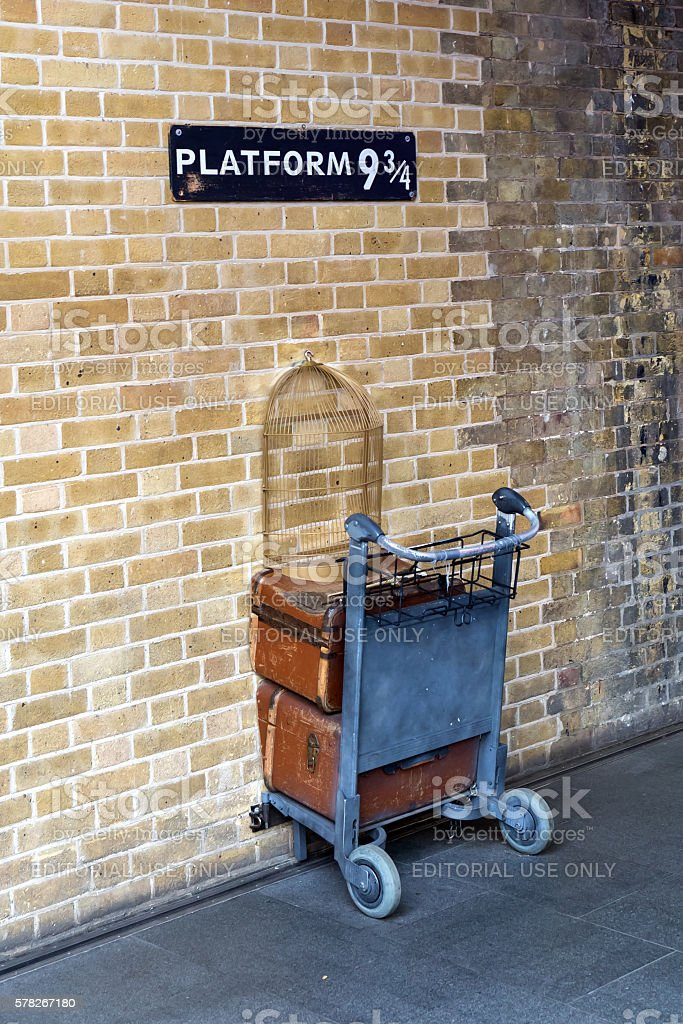 film location of Harry Potter at Kings Cross station stock photo